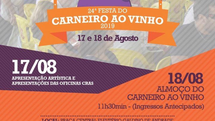 PEABIRU REALIZA NESTE DOMINGO A 24° EDIÇÃO DO CARNEIRO AO VINHO