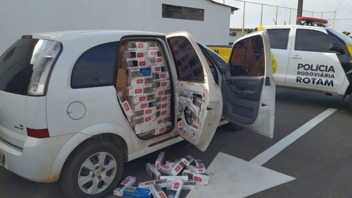 Polícia Rodoviária Estadual apreende veículo  com carga de cigarros