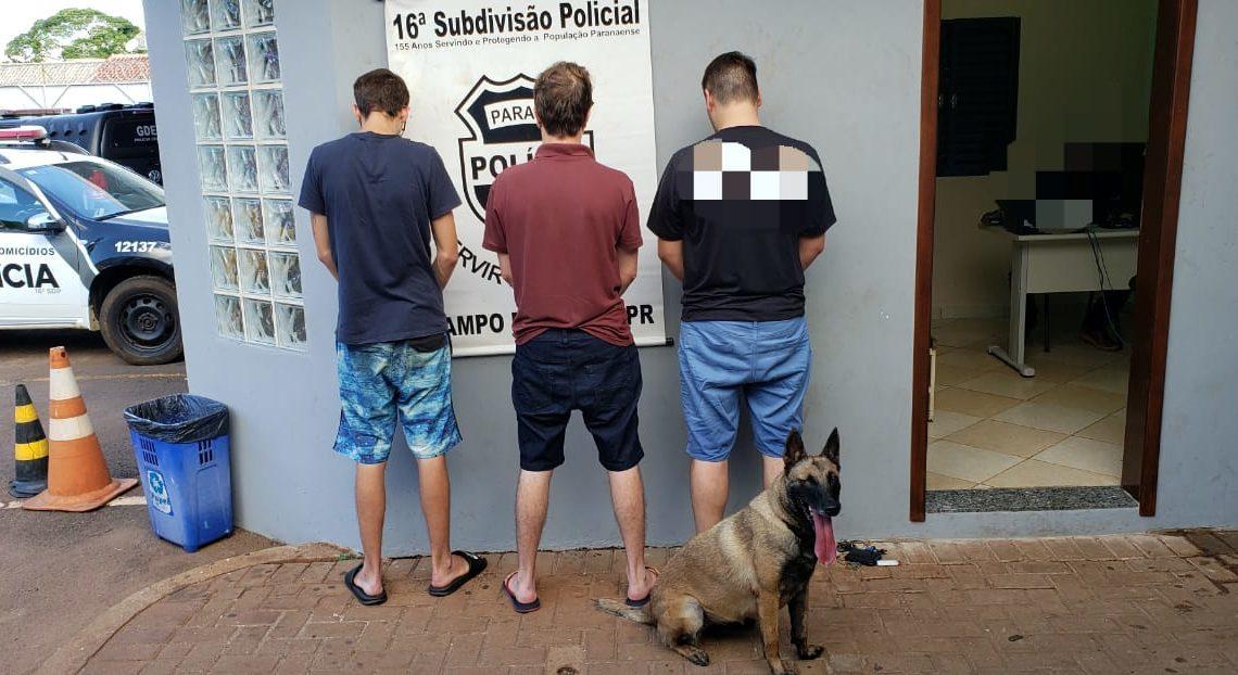CANIL da Polícia Militar localiza drogas sintéticas com estudantes em Campo Mourão .