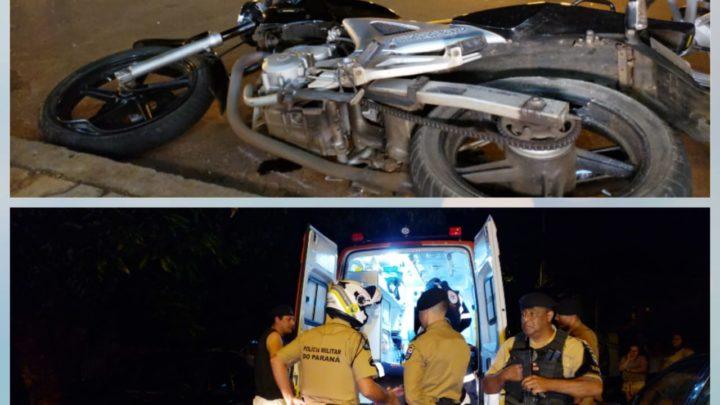 Acidentes de trânsito: Criança é atropelada por moto e Motociclista bate em carro no centro de CM.