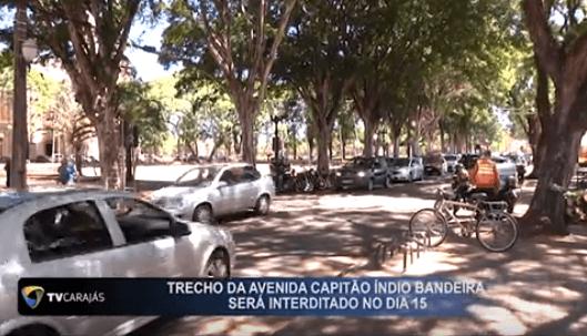 Trecho da avenida Capitão índio Bandeira será interditada no dia 15 de Novembro.