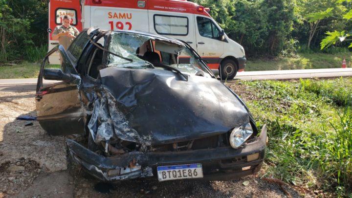Duas pessoas ficaram gravemente feridas em acidente de trânsito na estrada Boiadeira