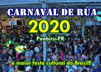 Mais de 20 mil pessoas passaram pelo carnaval de rua 2020 de Peabiru