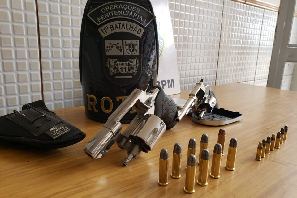 Dois presos e duas armas apreendidas no Cidade Nova em patrulhamentos da ROTAM
