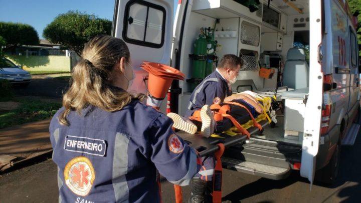 Grave acidente de trânsito deixa mulher e criança de 7 anos feridas