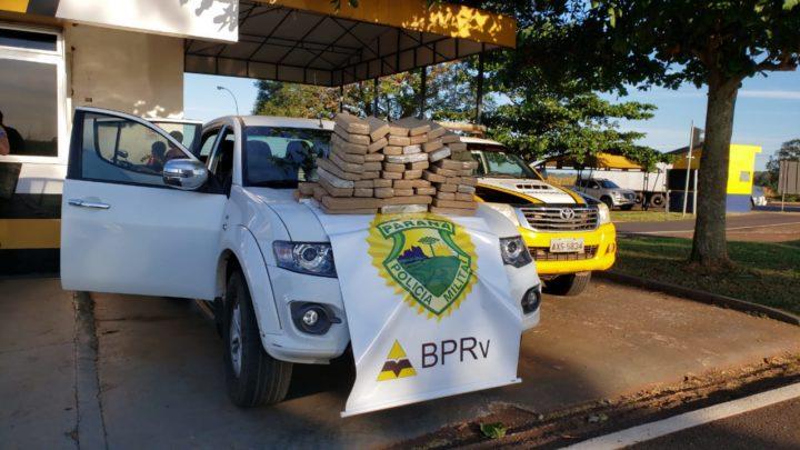Polícia Rodoviária Estadual apreende camionete com 700kg de maconha na PR-487