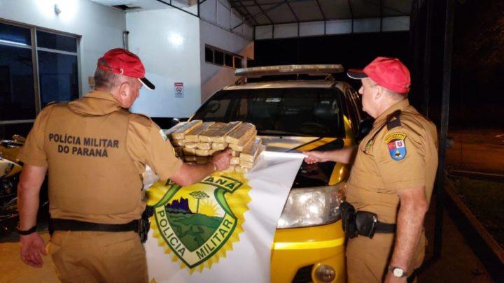 Passageiro é preso pela Polícia Rodoviária Estadual de Peabiru com mais de 20 quilos de maconha