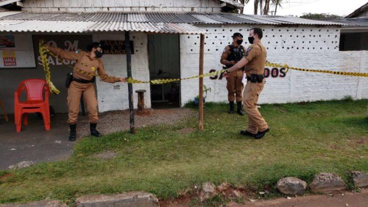Homem é morto a tiros em lanchonete no jardim Brasilia em Campo Mourão