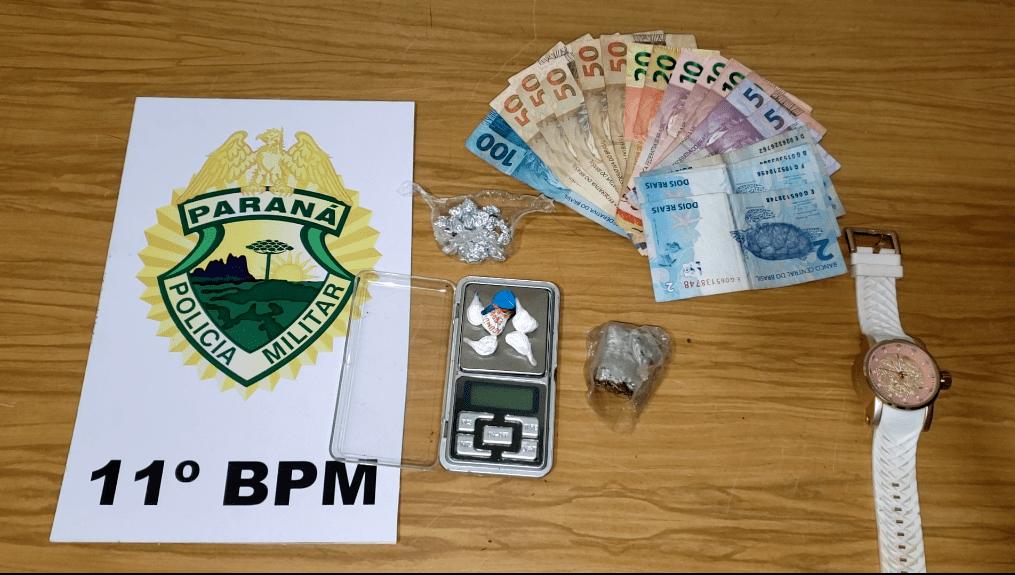 Rapaz é preso por tráfico de drogas em Campo Mourão