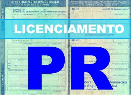 Licenciamento veicular no Estado do Paraná iniciará pagamento em 01 de agosto