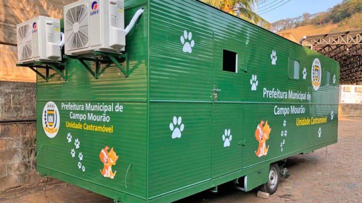 Prefeitura de Campo Mourão adquiri hospital veterinário móvel para castração de animais
