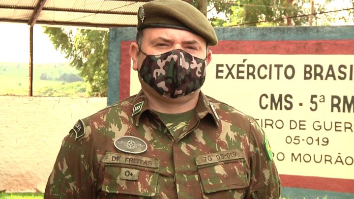 Sargento Lisandro de Freitas se despede do Tiro de Guerra 05-019 de Campo Mourão