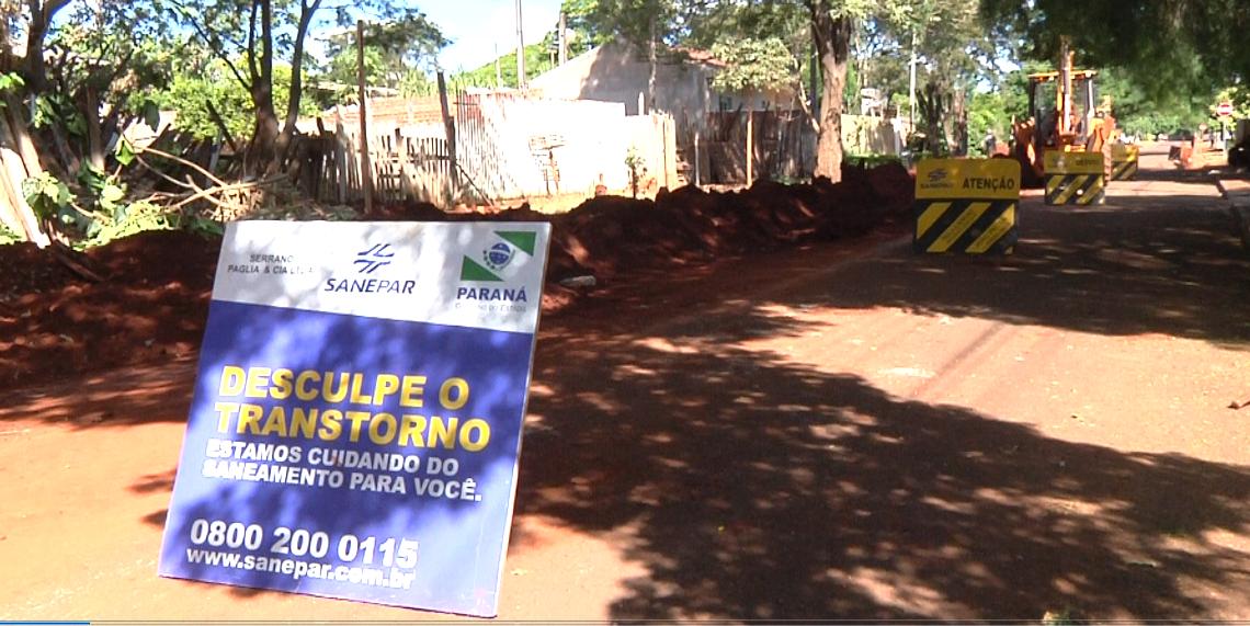 Sanepar amplia obras da rede de esgoto em Campo Mourão