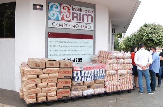 Instituto do Rim recebe 200 cestas básicas de doação
