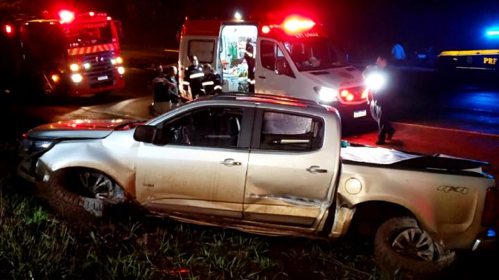 Acidente com cavalo na rodovia PR-487 deixa cinco pessoas feridas